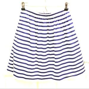 J. Crew Nautical Stripe Skirt 💙